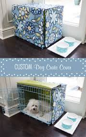 Custom dog crate cover made based on this tutorial http://www.dimplicity