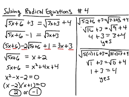 algebra radical equations