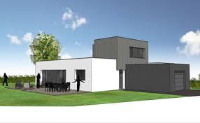maison sur patio surface 127 m² projet de construction d une maison individuelle familiale avec le label maison d architecte dans les côtes d armor