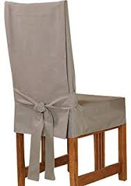 sure fit cotton duck shorty dining room chair cover linen