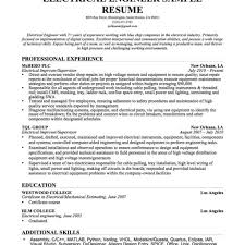 Resume Format For Experienced Electrical Engineers Electrical