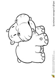 Coloriage Animaux Sauvages D Afrique Hippopotame