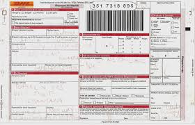 Blank Dhl Air Waybill Form Archives Madhurbatter