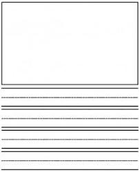 Kindergarten Lined Paper Template Kindergarten Writing Template Journal Paper Kids Kindergarten