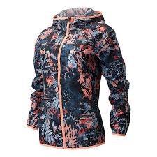 New Balance Printed <b>Accelerate Windcheater Jacket</b> blue red pink ...