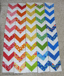 Zig Zag Quilt • Freemotion by the River & I wanted to add some sashing in between the rows and here you can see where  I laid the rows on a piece of muslin before I decided how wide to cut ... Adamdwight.com