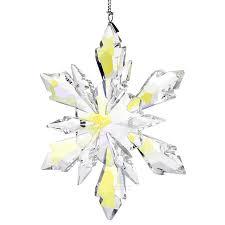 top quality snowflake hanging glass pendants crystal suncatcher prism chandelier parts ornament tree decor