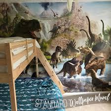dinosaur wall mural realistic