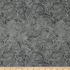 108' Inch Quilt Backing Fabric: Amazon.com & Essential Dotty Waves 108in Wide Quilt Back Gray Fabric By The Yard Adamdwight.com