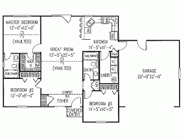 image of 3 bedroom ranch style house plans review