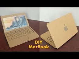 how to make apple laptop with cardboard at home diy laptop for kids