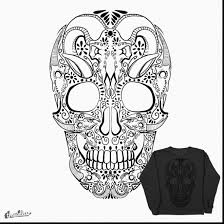 Small Picture Awesome sugar skull coloring pages printable book pictures with