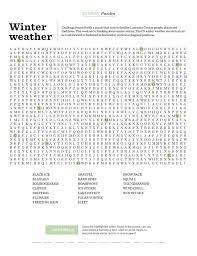 Word Search Winter Weather Sunday Lancasteronline Com