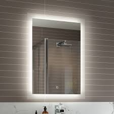 Bathroom Mirrors Led Bathroom Mirrors With Demister And Shaver