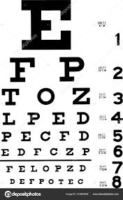 Medical Eye Chart Vector Illustration Stock Vector