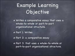learning objectives power point 6 example learning objective writes a comparative essay