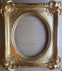 antique oval frame medium wood gold leaf frames