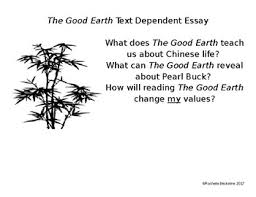 the good earth teaching resources teachers pay teachers  the good earth essay assignment anticipation guide