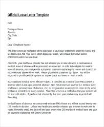 sample medical leave of absence letter from doctor 20 leave letter templates pdf doc free premium templates