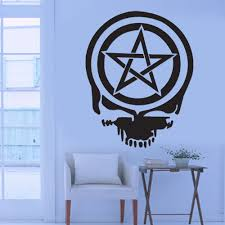 cool wall stickers home office wall. Cool Graphic Pentacle Pentagram Wiccan Pagan Death Skull Wall Sticker Vinyl Decal Art Home Office Room Mural Decor Vehicle-in Stickers From D