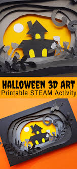 Free Craft Printables Templates Halloween Paper Craft In 3d Free Printable Little Bins