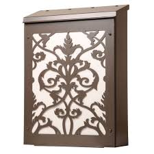 vertical wall mount mailbox. Vertical Wall Mount Mailboxes For Sale | Victorian Damask Vertical  Mailbox In Dark Bronze And White Wall Mount Mailbox K