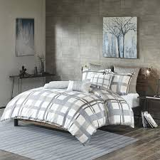 plaid duvet covers king inkivy sterling plaid duvet cover king cal king size blue grey flannelette