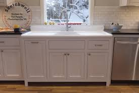sinks with drainboards sink cabinet and corner storage with white cabinet and white console