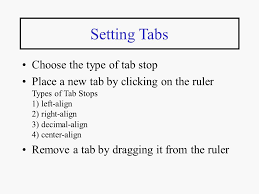 type of tab word processing an introduction to microsoft word lecture ppt download
