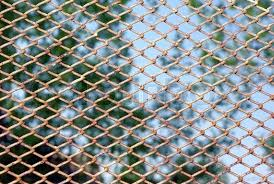 chainlink fence rust chain link rusty fence on a green foliage background chain link fence rust