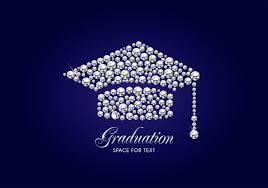 Free Graduation Background Designs Diamond Graduation Cap Vector Background Download Free