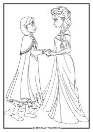 Kleurplaat Van Elsa En Anna Uit Frozen Kleurplaat Elsa Elsa