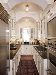 Kitchen:Natural Efficient Kitchen Design With Wooden Materials And Modern  Appliances Efficient Narrow Kitchen Design