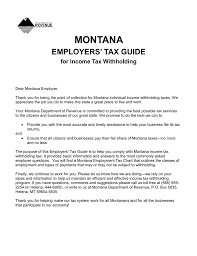 Employee Tax Withholding Chart Montana Employers Tax Guide For Income Tax Withholding