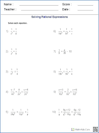 solving rational equations algebra 2 math solving onal equations worksheet worksheets answers amp solve linear equation