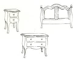 Furniture Sketches Simple Modern Furniture Design Sketches Royalty Free Cliparts