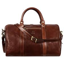 brown small leather overnight bag the ambassadors