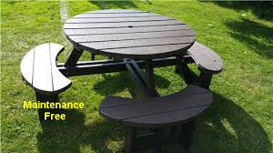 recycled plastic composite excalibur picnic table view 2