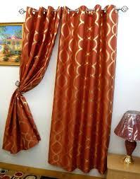 windows orange valances for decorating best rust curtains images burnt curtain valance