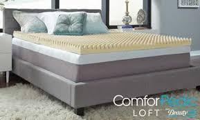 memory foam mattress pad. Shop Groupon ComforPedic Loft From Beautyrest Memory Foam Mattress Topper Memory Foam Mattress Pad