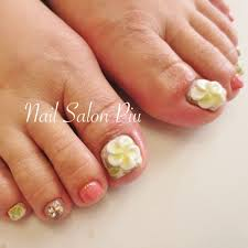 Nail Salon Piuさんのネイルデザイン フットネイル 夏ネイル