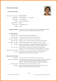 Gallery Of 10 Examples Of Cv For Undergraduate Students Job