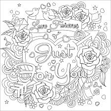 Love forever coloring page   Hearts + Love Coloring Pages for ...