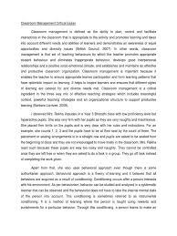 classroom management critical essay classroom management classroom