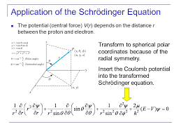 of the schrödinger equation the potential central force v r depends