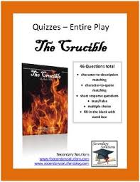 best the crucible images beds high school  complete quiz set for the crucible by arthur miller four reading quizzes for a total