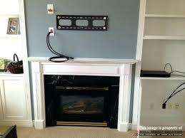 wall mount tv wires mounting on brick fireplace wall mount installation with wire concealment over