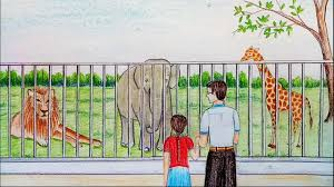 zoo drawing.  Zoo How To Draw Zoo Step By To Zoo Drawing