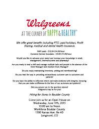 walgreen s hiring event workforce boulder county walgreens 17