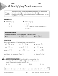 6 3 multiplying fractions best ideas of glencoe algebra 1 solving equations by using multiplication and